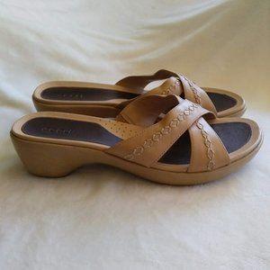 Ecco Neutral Slide Heeled Sandal 40